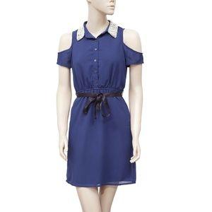 Dizzy Lissy Embellished Cold Shoulder Dress XS